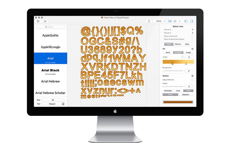 glyph designer a bitmap font generator for mac 183 71squared