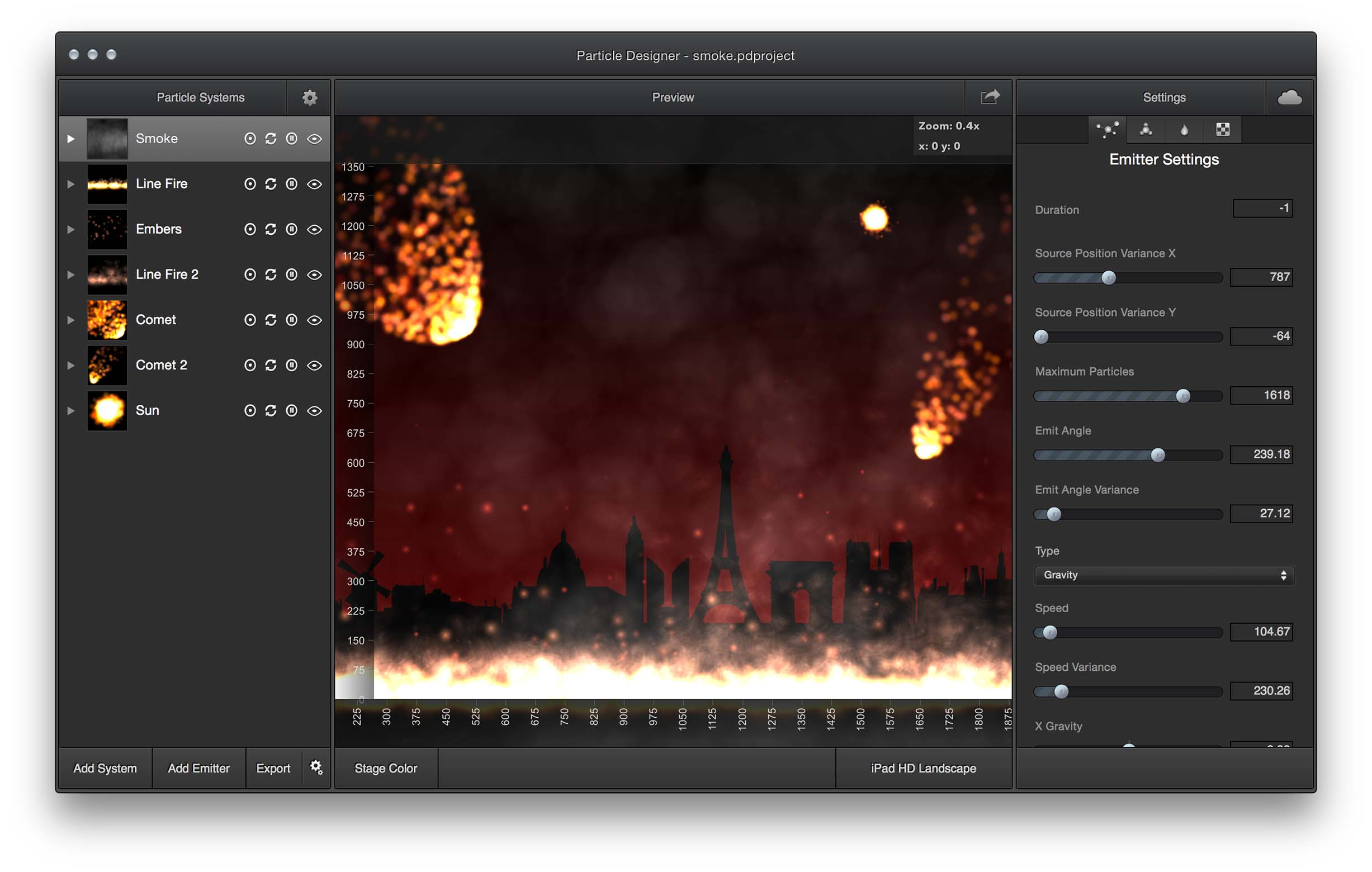 Particle Designer A Particle Simulation Editor For Mac 71squared